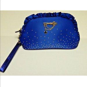 Victoria's Secret blue purse wristlet gold key
